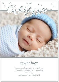 Holiday birth announcement