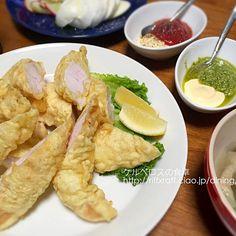 天ぷら粉であげてるのでフリッターというか天ぷら?(笑)二種類のマヨネーズソースで食べました。ウスターソースも合うよー - 13件のもぐもぐ - ササミのフリッター by lottarosie