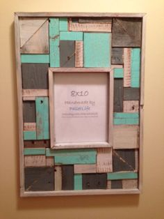 distressed colored frame blue natural pallet pieces by palletlife 7200
