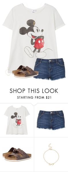 """""""Going to the beach tomorrow!"""" by sweet-n-southern ❤ liked on Polyvore featuring MANGO, Topshop, Birkenstock and Wanderlust + Co"""
