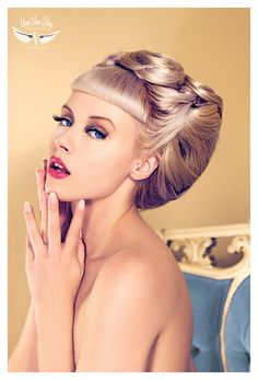 Pinup with pin curls up-do
