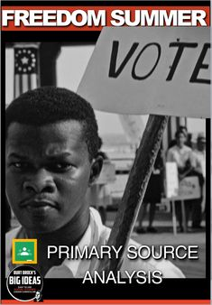 Freedom Summer Primary Source Activity (Civil Rights Movement) Teaching American History, American History Lessons, World History Lessons, Teaching History, History Education, Social Studies Notebook, Social Studies Classroom, Teaching Social Studies, History Lesson Plans