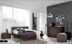 Special Characteristic in Modern House Decor: Charming Modern House Decor In Bedroom Ideas For Couple With Black And White Bedroom Wall Paint Also Modern Floor Lamps Small Oak Wardobe Ikea Corner Desk Also White Window Dressings ~ surrealcoding.com Interior Inspiration