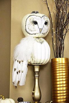 Wow!  Altered Pumpkins designed by PLA Schneider http://decoart.com/project/pumpkin-owl?mc_cid=9aa402bf4c