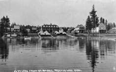 Lakefront at McCall, Idaho 1909. Payette lake..photographer unknown. Central Washington University Archives.