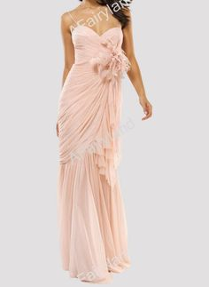 Nude pink chiffon bridesmaid dress party dress in by AFairyland, $88.00