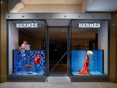 Hermès 2014S/S Swimwear Collection Window Display / Torafu Architects