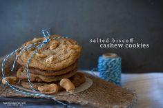 Salted Biscoff Cashew Cookies