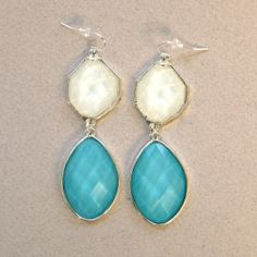 Adia Kibur Boldly Blue Earrings: Cool pool never, ever goes out of style.