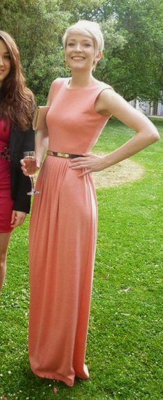 Pink Belt Maxi Dress