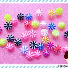 40 piece mixed color candy resin cabochon flatbacks 8mm