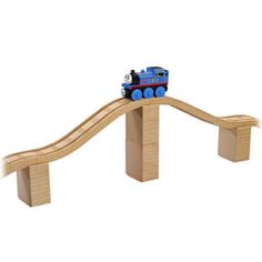Some bridge building options using Fischer-Price's wooden railway set. Not as much flexibility as other sets, but still an option.