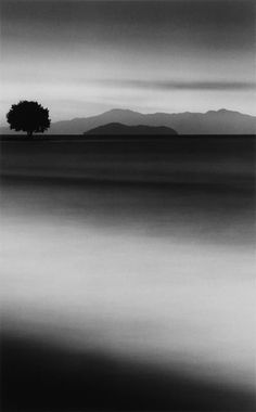♂ Black and white minimalist photography Silent World by Michael Kenna