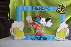 Marco-para-fotos-de-cumpleanos-cerveza Husband Birthday, 30th Birthday, Birthday Parties, Birthday Ideas, Photo Booth Frame, Ideas Para Fiestas, Balloon Decorations, Perfect Party, Holidays And Events