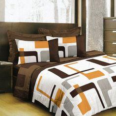 Teffer - Cotton Bed Linen Set (Duvet Cover & Pillow Cases) / SoulBedroom Home Textile - quality bedding, duvet covers, pillow cases, fitted sheets, flat sheets Cotton Bedding, Linen Bedding, Flat Sheets, Fitted Sheets, Geometric Bedding, Duvet Cover Design, Bed Linen Sets, Home Textile