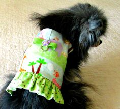 Small Dog Vest Cat Harness Flannel by BloomingtailsDogDuds on Etsy
