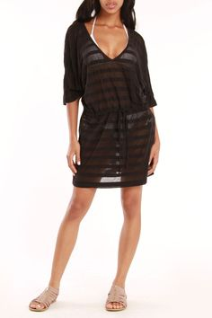 Balance by Marika Tahiti Burnout Cover Up In Black - Beyond the Rack at $19.99