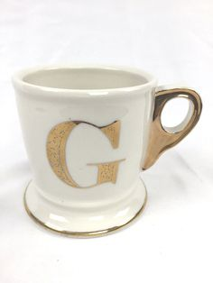 anthropologie limited edition gold monogram mug letter g anthropologie