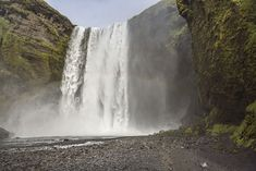 A waterfall in a remote location