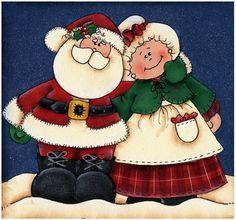 CHRISTMAS, SANTA AND MRS. CLAUS CLIP ART