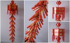 ang pow lantern with ang pow firecrackers