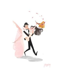 Wedding illustration / Matrimonio, illustrazione disegno - by Victoria Ying