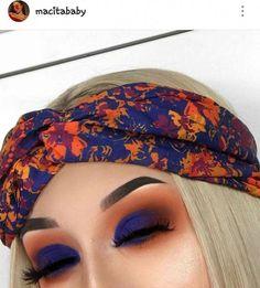Dark blue + orange shadow : tropical eye shadow yhe perfect makeup look for summ. - Dark blue + orange shadow : tropical eye shadow yhe perfect makeup look for summer. Perfect Makeup, Cute Makeup, Gorgeous Makeup, Glam Makeup, Makeup Inspo, Makeup Inspiration, Makeup Tips, Makeup Ideas, Makeup Products