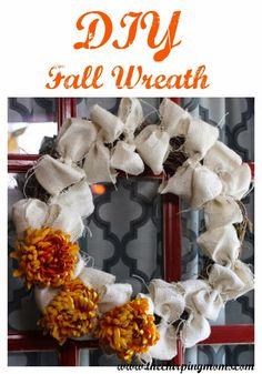 Burlap Wreath Ideas for Fall 3