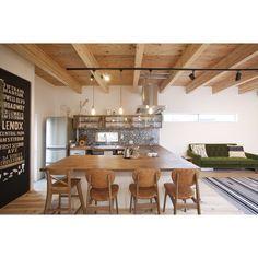 ナチュラル/コの字キッチン/モザイクタイル/漆喰/黒板塗料/ソラマドの家…などのインテリア実例 - 2016-07-16 23:45:36   RoomClip(ルームクリップ)