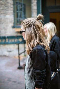 3 Simple & Fast Hair Styles - Half Bun