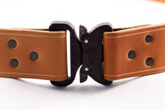 Custom Leather Turnout Belt With Cobra Buckle Tan Leather