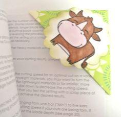 Cow corner bookmark - kiva lehmäkirjanmerkki