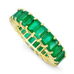 Vintage jewelry is jewelry that was once in style but then fell out of style. Now, many people are wearing vintage jewelry as part of today's styles. Vintage jewelry is very popular today, and it is surprisingly easy to find. Emerald Eternity Ring, Emerald Band Ring, Full Eternity Ring, Emerald Cut Diamonds, Eternity Bands, Diamond Cuts, Diamond Rings, Diamond Jewelry, Gold Jewelry