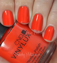 "CND VINYLUX ""Electric Orange"" | Peachy Polish"