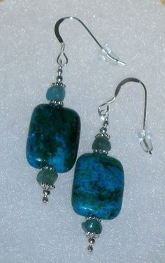 925 Sterling Silver Chrysocolla & Apatite Beaded by dsmenagerie, $14.99