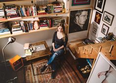"""The first-time novelist on the studio where she wrote her highly anticipated debut, """"The Girls."""""""