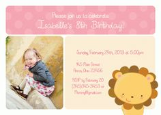 Lion Boy Girl Birthday Baby Shower Invitation Thank You Note Favors Address Labels Custom Photo (Powered by CubeCart) Photo Birthday Invitations, Card Birthday, 8th Birthday, Baby Shower Invitations, Thank You Notes, Custom Labels, Address Labels, Custom Photo, Photo Cards