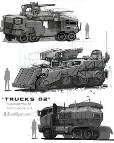 Did something abit more oldschool. Went back to some older workflows as a refresher. Had my fun, going to work properly now. Army Vehicles, Armored Vehicles, Future Weapons, Fire Powers, Futuristic Cars, Character Design References, War Machine, Character Concept, Concept Cars