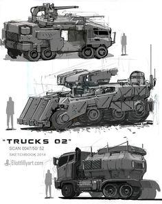 TRUCKS 02, Eliott Lilly on ArtStation at http://www.artstation.com/artwork/trucks-02-7b6fa0b3-e045-40b7-b272-7b940eccaf2f