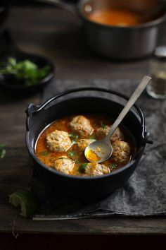 Lamb meatball soup