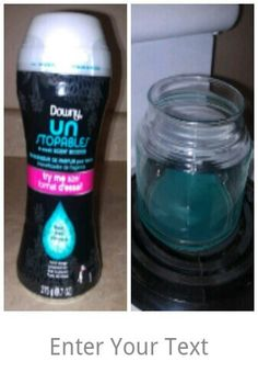 Put however much you want in an empty glass jar (I chose a candle jar), put it on the stove burner, keep it on low. It will melt and make the ENTIRE house smell like fresh downy laundry! I swear by this! Ah-mazing!