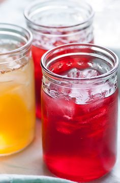 """Grown-up """"Cool-Aid"""" looks fruity and sweet, but it's really made from herbal tea, stevia, and apple cider vinegar -- all Phase-2 friendly!"""