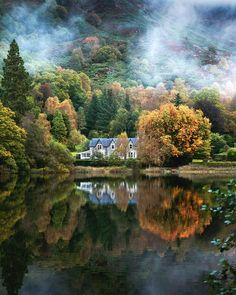 Autumn morning in Aberfoyle, Stirling in Scotland : MostBeautiful