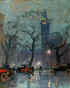 A French artist's moody, magical New York  Born in Paris in 1875, Charles Constantin Hoffbauer studied under top 19th century French masters and painted scenes all over Europe