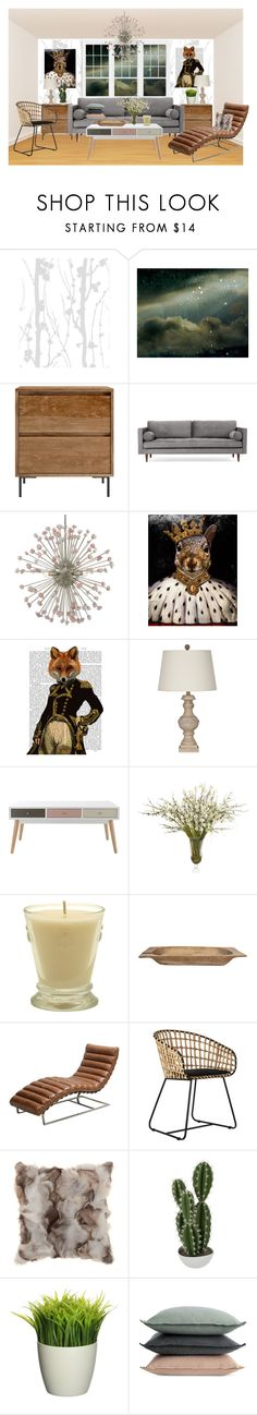 """I COULD LIVE HERE"" by paula-parker ❤ liked on Polyvore featuring interior, interiors, interior design, home, home decor, interior decorating, Joybird, WALL, John-Richard and Kiss That Frog"
