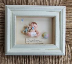 Personalised New Baby Plaque Gift Polymer Clay by ItsybitzysStore