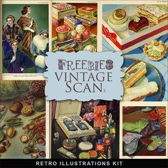 Far Far Hill - Free database of digital illustrations and papers: Kit of Freebies Retro Illustrations