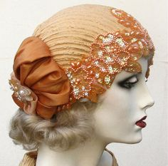 1920's Flapper Hat Vintage Style Bridal Headpiece by BuyGail, $195.00