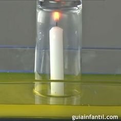 La vela que sube con el agua. Experimento para niños