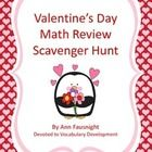 Valentine's Day Math Review Scavenger Hunt In this scavenger hunt students will practice problem solving using multiplication with arrays and patte...